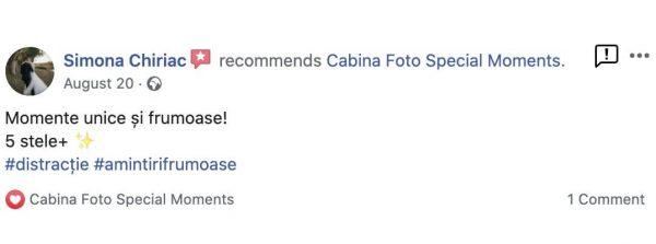 recenzii facebook pentru cabina foto special moments